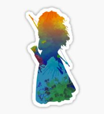 Princess Inspired Silhouette Sticker