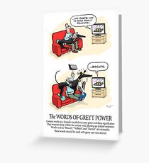 Greyhound Glossary: Words of Greyt Power Greeting Card