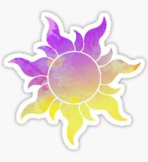 Tangled Sun inspired silhouette Sticker