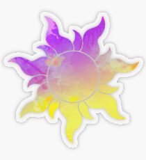Tangled Sun inspired silhouette Transparent Sticker