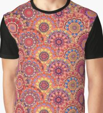 Scales pattern from pink flower mandalas Graphic T-Shirt