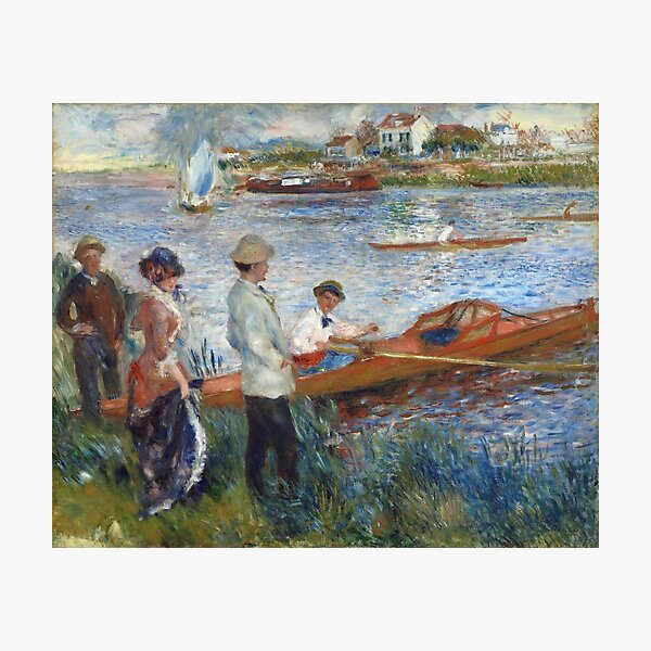 Oarsmen at Chatou by Pierre-August Renoire Photographic Print