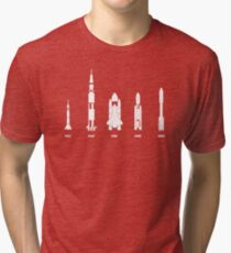 The Evolution of Space Rockets Tri-blend T-Shirt