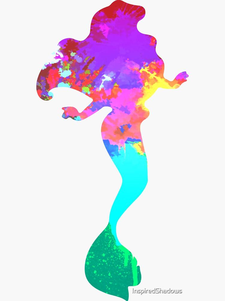 Meerjungfrau inspiriert Silhouette von InspiredShadows