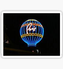 Balloon Sign - Paris, Las Vegas ^ Sticker