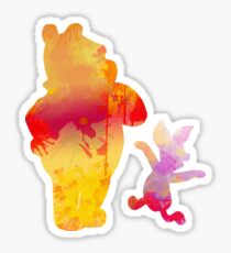 Bear and Pig Inspired Silhouette Sticker