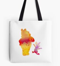 Bear and Pig Inspired Silhouette Tote Bag