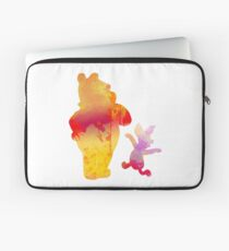 Bear and Pig Inspired Silhouette Laptop Sleeve