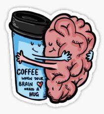 Coffee- Brain Dead Sticker