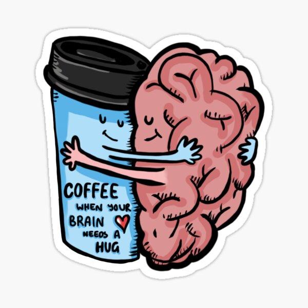 Café-Brain Dead Pegatina