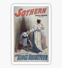 Performing Arts Posters Sothern The kings musketeer 0923 Sticker