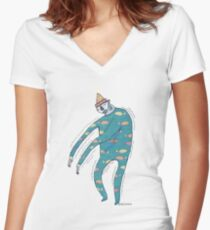 The Shakey Fishman Women's Fitted V-Neck T-Shirt