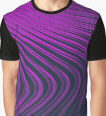 Pink Wave Lines Graphic T-Shirt
