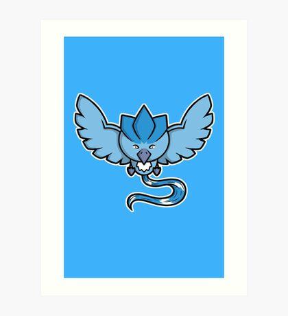 Super Cute Legendary Bird - Team Blue Art Print