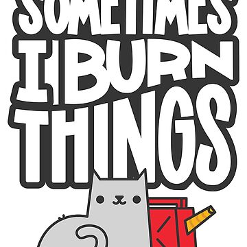 Sometimes I Burn Things Cat by Jetpack