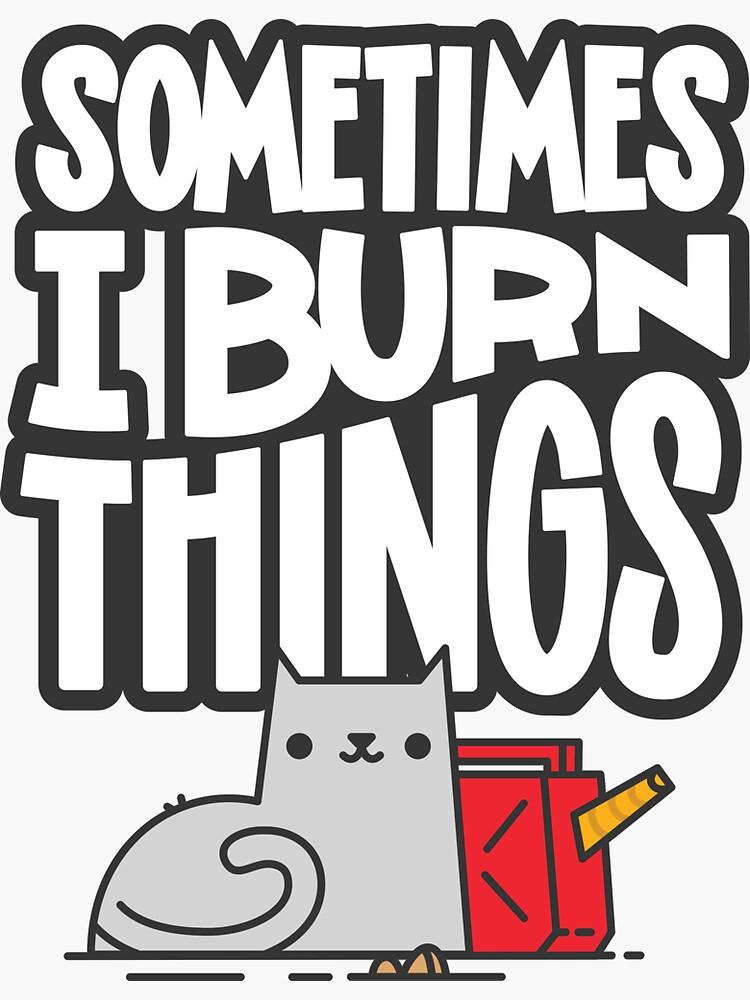 Manchmal brenne ich Dinge Katze von Jetpack