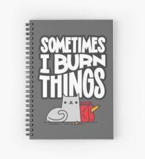 Cuaderno de espiral A veces quemo cosas gato