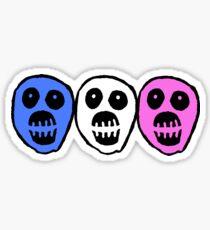 Trans colours Boosh heads Sticker