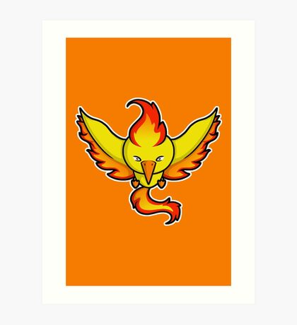 Super Cute Legendary Bird - Team Red Art Print