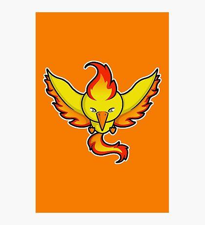 Super Cute Legendary Bird - Team Red Photographic Print