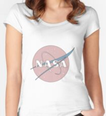 PASTEL NASA Women's Fitted Scoop T-Shirt