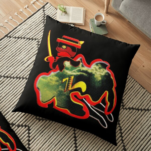 In the name of Zorro - The Famous Flying Knight of Wisdom - Faster than lightning! Floor Pillow