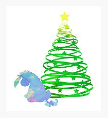 Christmas Donkey Inspired Silhouette Photographic Print