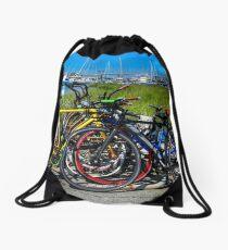 Bikes and Boats Drawstring Bag