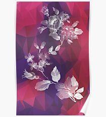 Violet Floral Poster