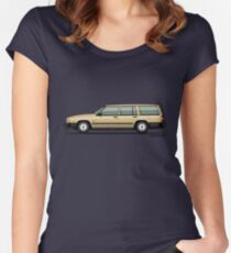 Volvo 740 745 Wagon Gold Women's Fitted Scoop T-Shirt