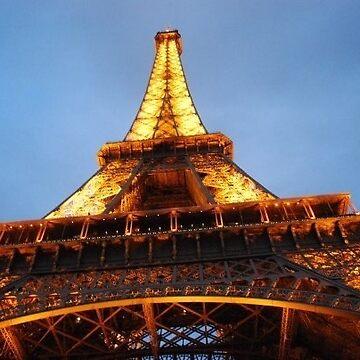 Under the eifel tower at dusk by AngieRocksArt