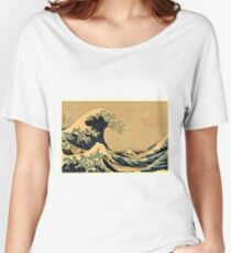 Katsushika Hokusai - The Great Wave Off the Coast of Kanagawa 19th century Women's Relaxed Fit T-Shirt