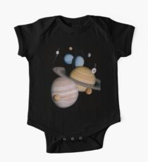 VOYAGER, Planets, Moons, the two spacecraft have visited One Piece - Short Sleeve
