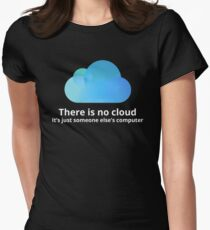 There is no cloud Women's Fitted T-Shirt