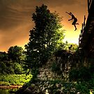 Leap from the Trestle by Wayne King