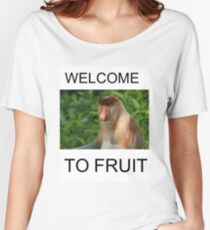 WELCOME TO FRUIT Women's Relaxed Fit T-Shirt
