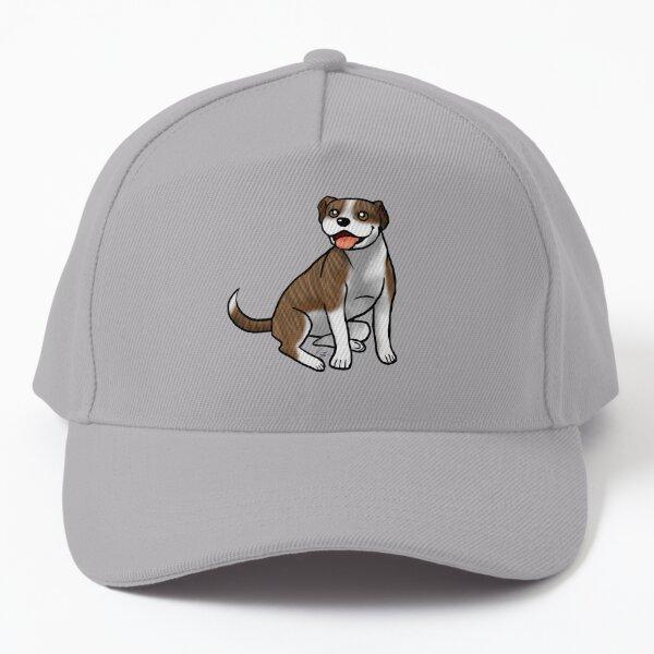 American Pit Bull Terrier - Brindle and White Baseball Cap