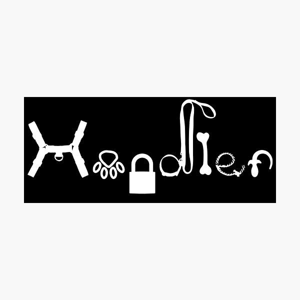 Pup Spiel-Handler Fotodruck