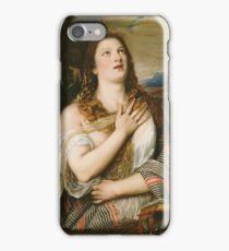 Titian - The Penitent Magdalene iPhone Case/Skin