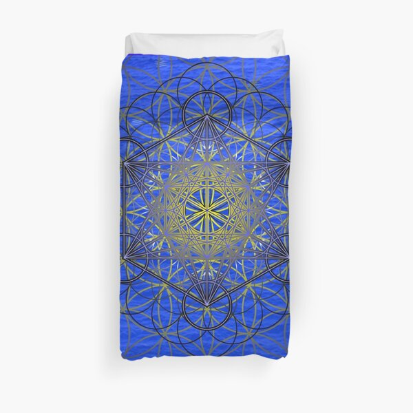 Midnight Metatron Duvet Cover