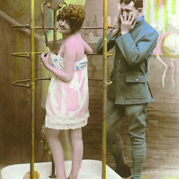 A WWI Soldier reacts to a lady in the shower by ClassicNudes