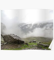 Sca Fell Clouds Poster