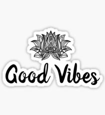 Good Vibes with Lotus Sticker