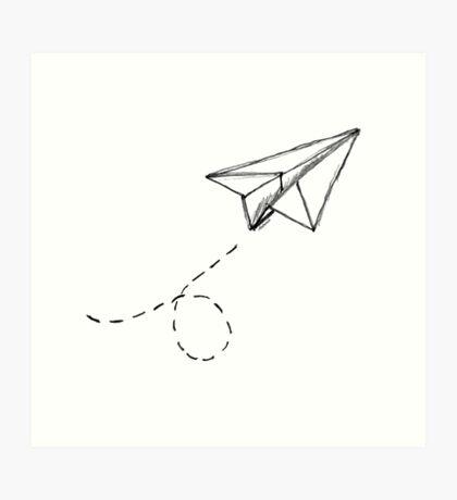 Paper Airplane 9 Art Print