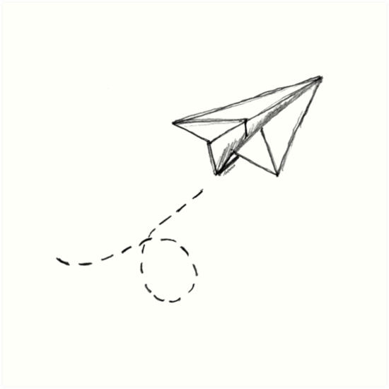 Quot Paper Airplane 9 Quot Art Print By Yopedro Redbubble