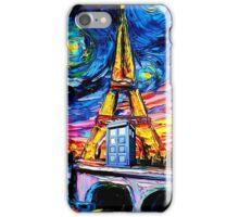tardis starry night in the paris iPhone Case/Skin