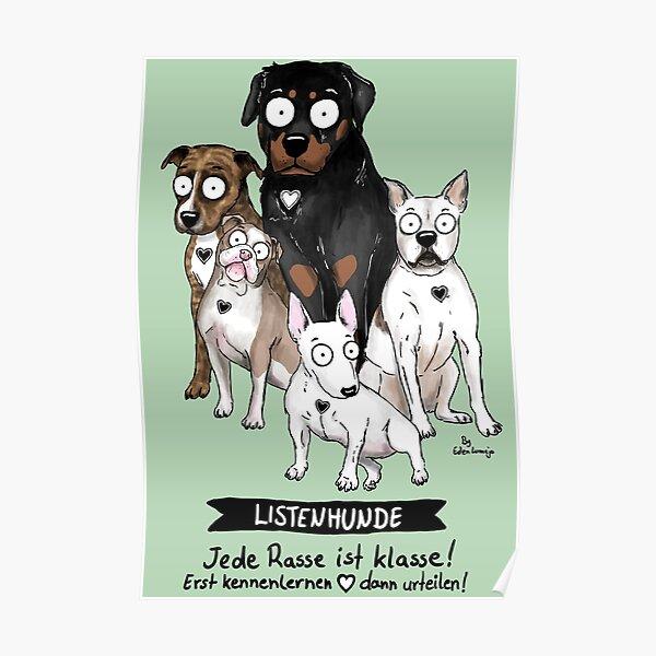 Listenhunde Poster