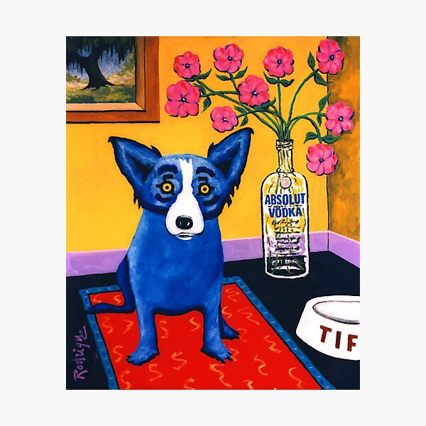 Blue Dog Out of Control, 1993-1995 George Rodrigue Photographic Print