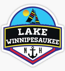 LAKE WINNIPESAUKEE NEW HAMPSHIRE CAMPING BOATING SAILING Sticker