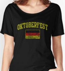 Vintage Oktoberfest German Flag  Women's Relaxed Fit T-Shirt